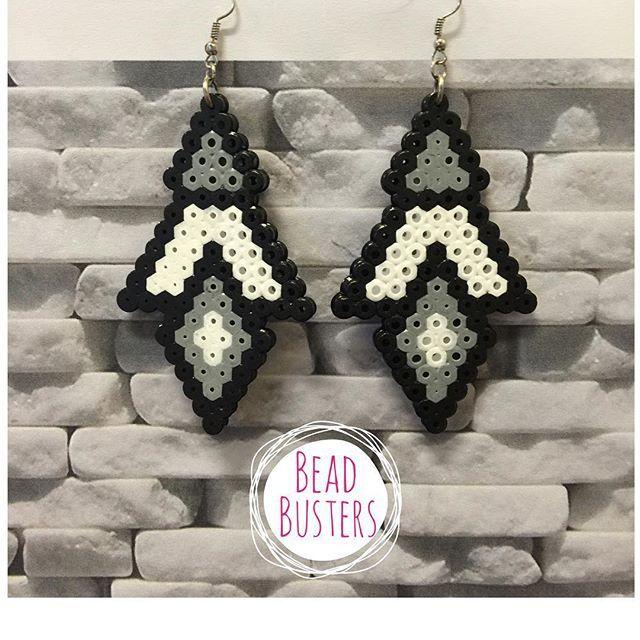 Earrings hama beads by  beadbusters