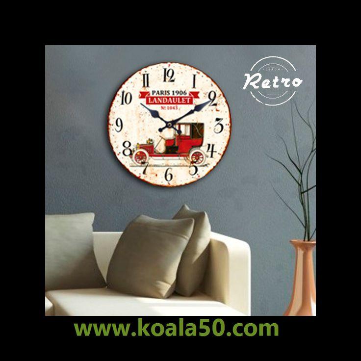 Reloj de Pared Coche Retro - 3,78 €   ¿Buscas redecorar tu hogar y necesitas un elemento funcional? ¡Qué mejor que el reloj de pared Coche Retro para darle un toque vintage a las paredes de tu hogar. Este reloj de pared analógico es...  http://www.koala50.com/relojes-de-pared-sobremesa/reloj-de-pared-coche-retro