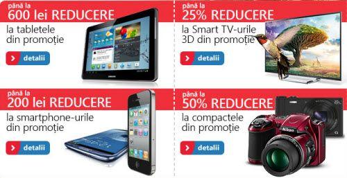 eMAG.ro oferă până la 600 lei reducere la tablete şi televizoare, până la 200 de lei reducere la smartphone-uri