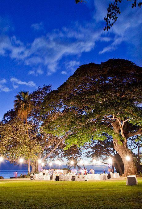 The Olowalu Plantation House in Hawaii is a tropical estate on the beach with a waterfront lawn for pictures | http://Brides.com