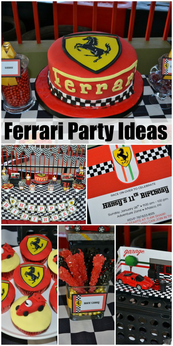 How cool is this Ferrari birthday party! See more party ideas at CatchMyParty.com.