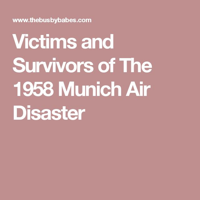 Victims and Survivors of The 1958 Munich Air Disaster