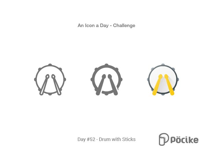 Icon Challenge Day 52 Drum with Sticks