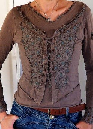 À vendre sur #vintedfrance ! http://www.vinted.fr/mode-femmes/tee-shirts/51263509-t-shirt-manches-longues-a-superposition-gilet