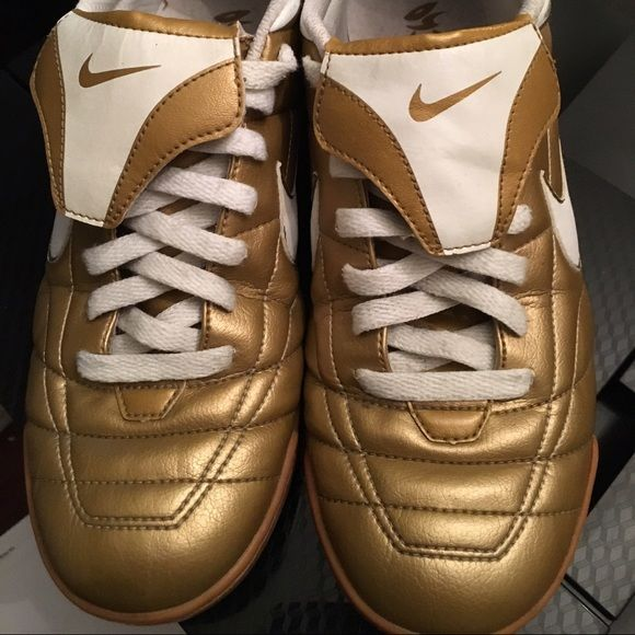 NIkE SHOES, GOLD  very nice shoes gold color, are in very good condition size (8) Nike Shoes Athletic Shoes