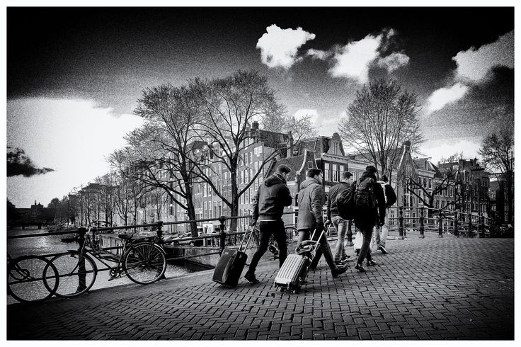 Tourists in Amsterdam - null