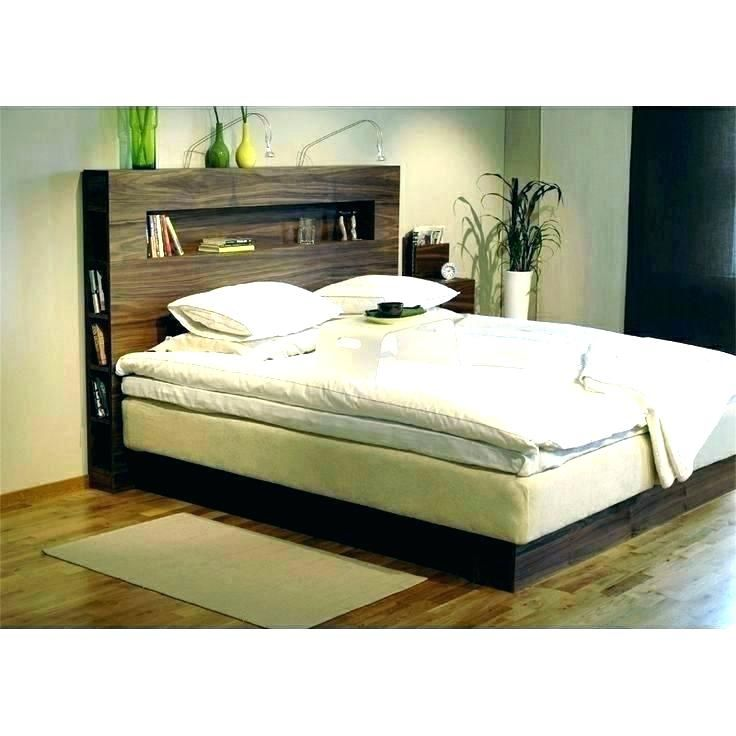 Headboard With Storage And Lights Mesmerizing Queen Shelves Headboards Wooden H