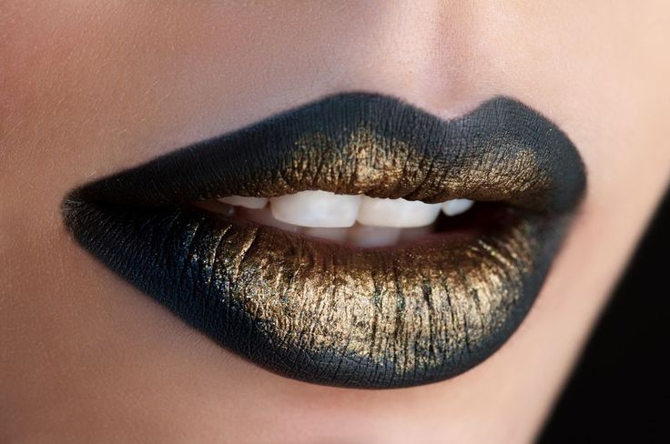 GCC BLACK MATTE LIPSTICK & Gold Lip Gloss $29.99 #GlamorousChicksCosmetics