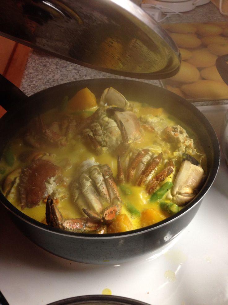 Ginataang crabs
