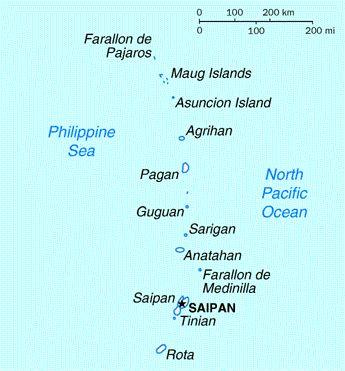 Northern Mariana Islands map - Northern Mariana Islands - Wikipedia, the free encyclopedia