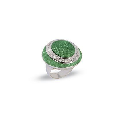 Byblos Jewels Anello Temptation verde