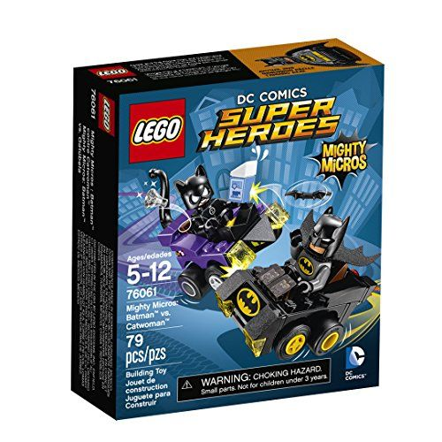 Catwoman has stolen the milk and a diamond and is escaping in her cool-for-cats Mighty Micros car. Zoom after her in Batman's fast Mighty Micros Batmobile. Aim his Batarang and stop that thief getting...