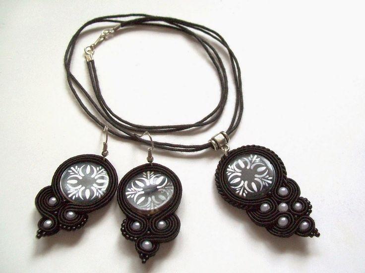 Świat Sutaszu: Czarny komplet z masą perłową