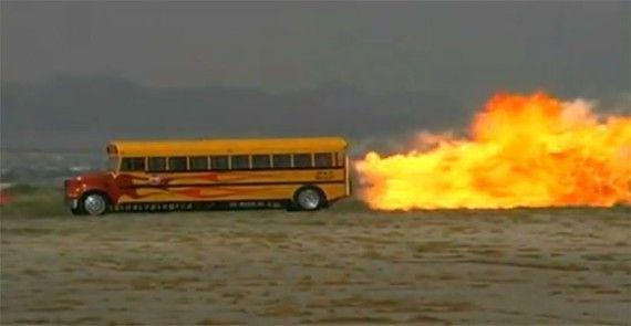 That's a dangerous ride! #SchoolBus #Flame #BusMartInc