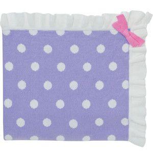 Lavender spot knitted baby blanket