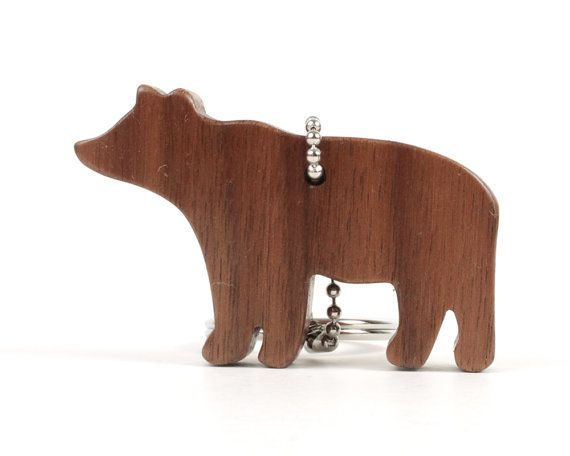 Llavero oso rústico simple Sierra de calar por OohLookItsARabbit