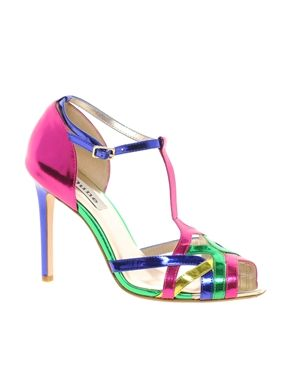 Dune Havian Multi Colour Heeled Sandals from ASOS.com  Wedding shoes!!