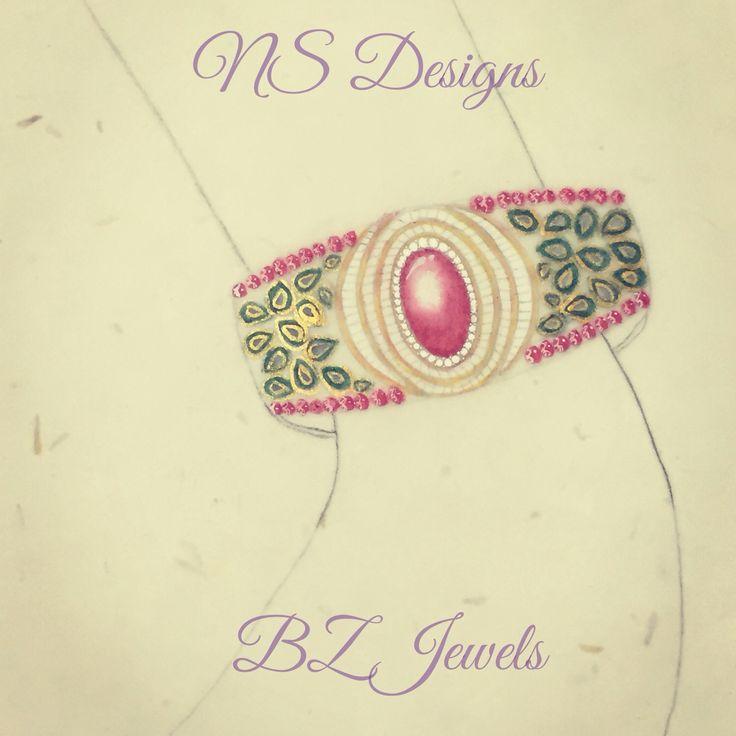 Jadau and diamond bracelet ..!!