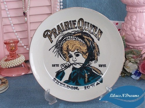 "1972 #Bicentennial #Plate ""Prairie Queen Sheldon Iowa"" by #LilacsNDreams #Collectibles #ArtFire"