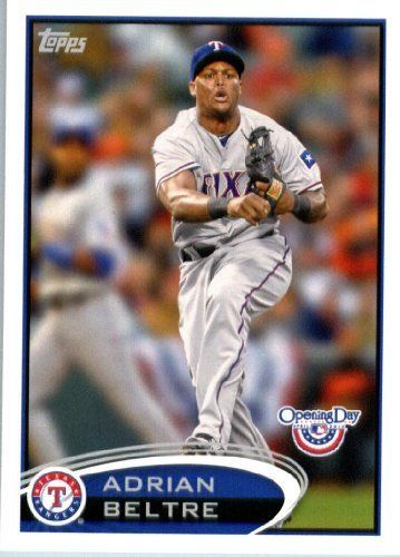 2012 Topps Opening Day #48 Adrian Beltre - Texas Rangers (Baseball Cards) by Topps Opening Day. $0.88. 2012 Topps Opening Day #48 Adrian Beltre - Texas Rangers (Baseball Cards)