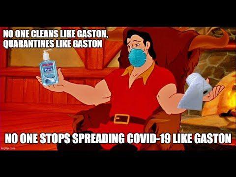 4 No One Cleans Like Gaston Youtube In 2021 Disney World Meme Funny Disney Jokes Disney Funny