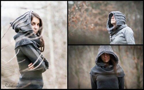 #witcher #kaptur #wiedzmin #fantasy #nadrutach #knitting #geek #cosplay #dark #style #grey #szary #nazamowienie #rekodzielaeu