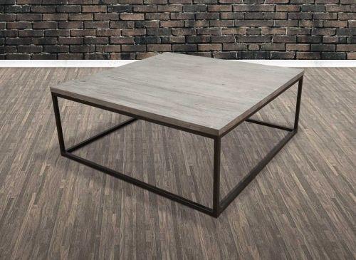 Tøft og rustikt Old Amsterdam sofabord. Varen har understell i jern og gråtonet bordplate i resirkulert alm.Mål:Lengde 100 cmBredde 100 cmHøyde 40 cmMateriale/finish:Jern / resirkulert almVedlikehold:Vi anbefaler bruk avAntikvax.(Reduserer sprekker, smuss, forenkler renhold og tilfører mer fuktighet til trevirket, påføres umiddelbart)Varenummer:690867Varen er produsert i resirkulert alm så strekker, skjevheter og fargevarisjoner er en naturlig del av produktet og slik det ...