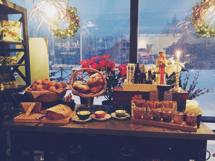 Breakfast at work . Åre bageri
