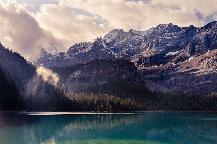 stunning lake o'hara, yoho national park, canadaLakes Ohara, Lakes O' Hara, The View, Beautiful Mountain, National Parks, Places, Blue Mountain, Front Porches, British Columbia