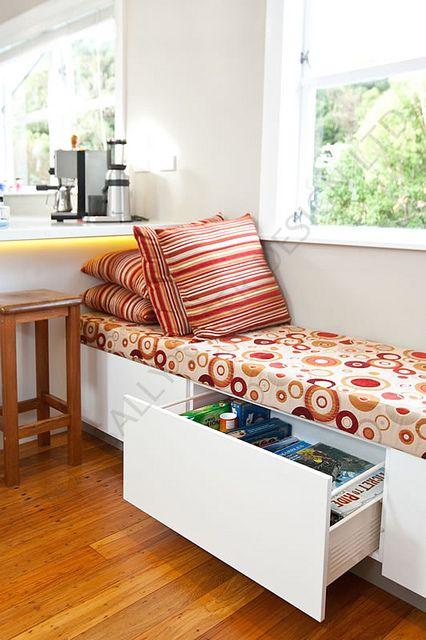 Window seat 116 by Sally Steer Design. Wellington. NZ