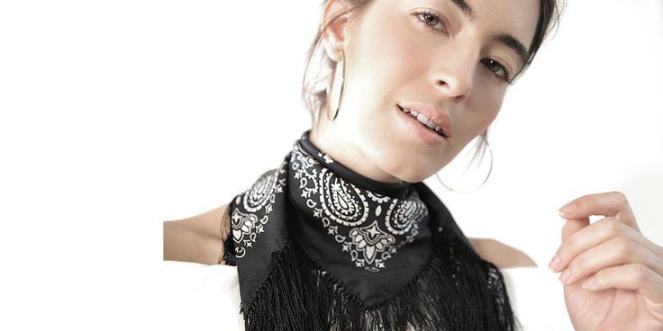 Mona Sultan Flare for Fringe Bandana - Available on monasultan.com