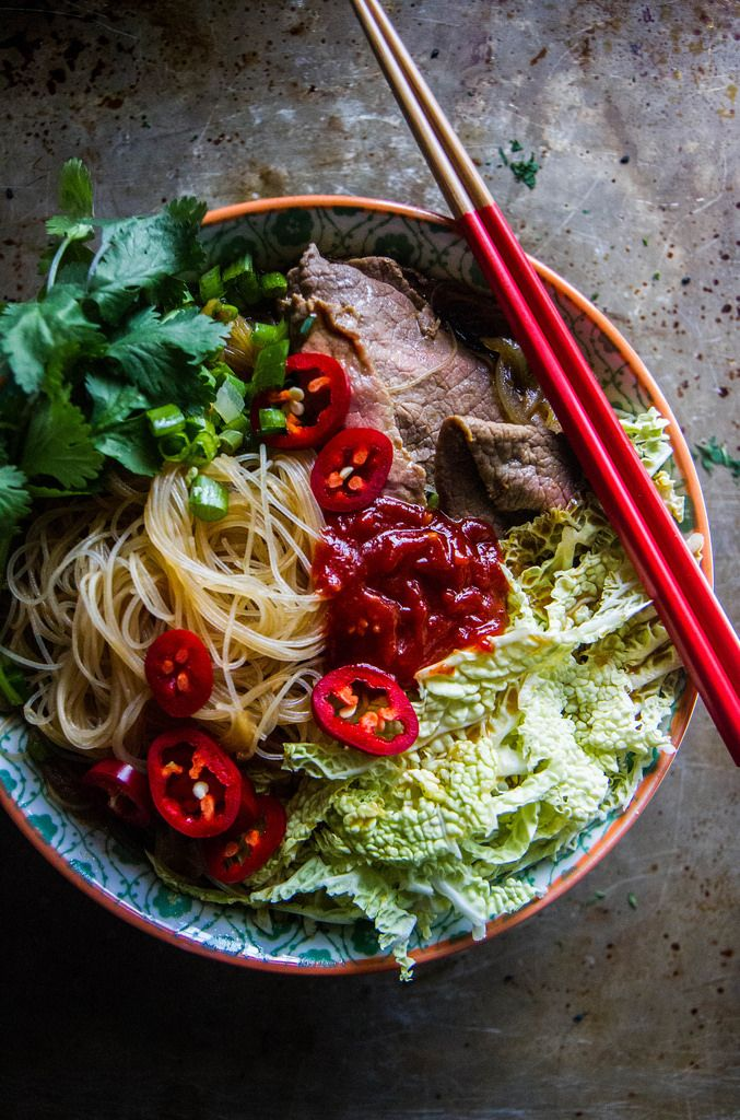 Spicy Asian Beef Noodle Soup - Heather Christo - Eat Well, Live Free. Deliciously Allergy Free Recipes.