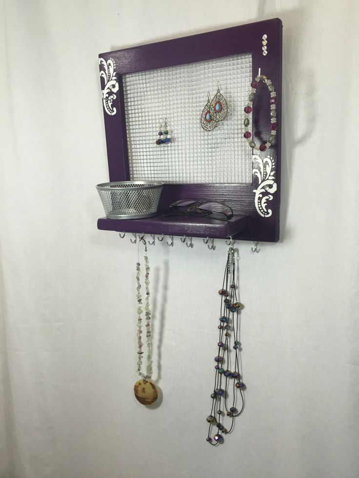 A personal favorite from my Etsy shop https://www.etsy.com/ca/listing/485591989/purple-and-white-jewelry-organizer-tray