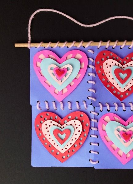 Cut up colorful Crayola paper for this easy kid craft quilting project.