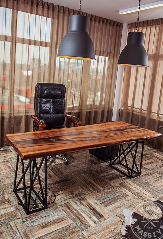 Modern table for the office from a slab of wood Chinar. Handmade table in Eco style. Beautiful natural wood with a live edge. Age of a tree – 500 year…