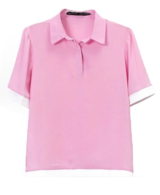 Sweet Style Pink POLO Blouse