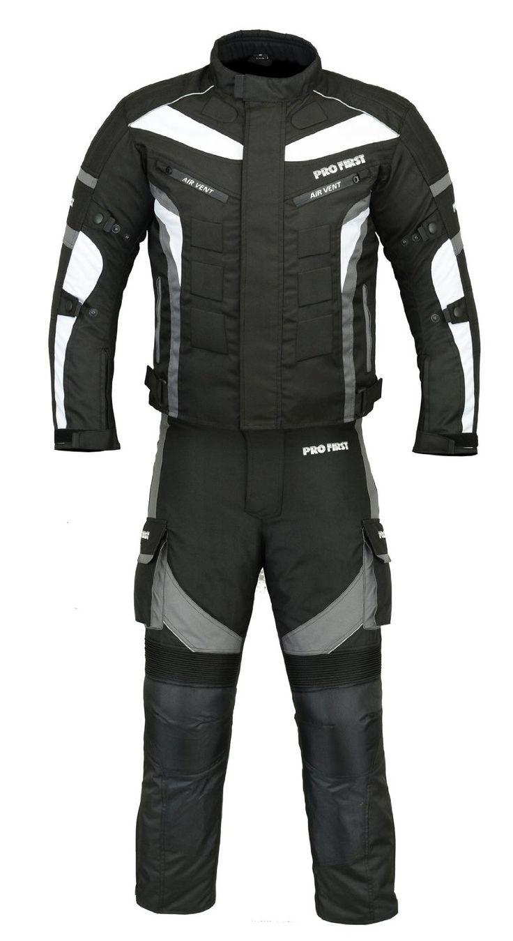(ST02) Motorbike Suit Textile Cordura CE Armoured Mens Motorcycle Suit Grey: Amazon.co.uk: Sports & Outdoors