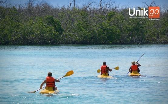 Kayaking at he lagoon