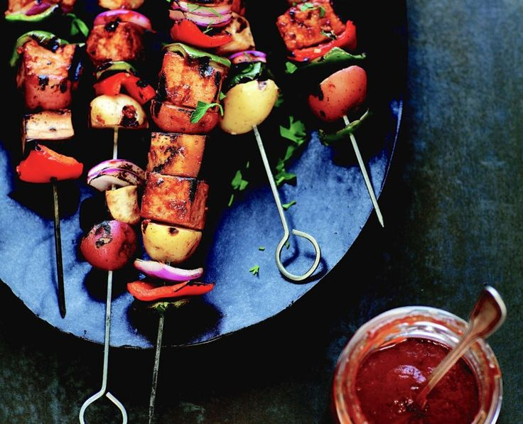 Vegan Cookout: Summer Vegetable And Tofu Kebabs Recipe