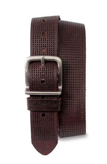 Men's Bill Adler 1981 Perforated Leather Belt