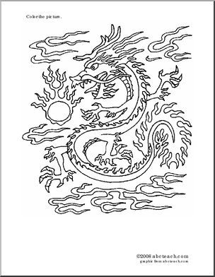 tet coloring pages for kids | 53 best images about dragons/chinese new year/tet on ...