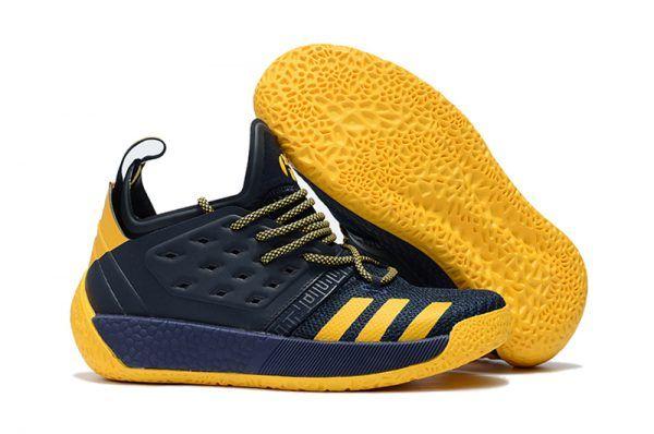 88b3085900db5 adidas Harden Vol. 2 Navy Blue Yellow For Sale