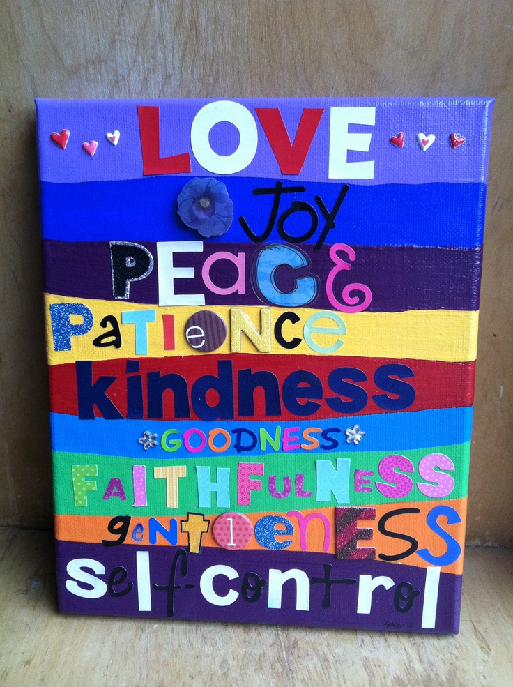 Colorful 8x10 Fruits of the Spirit Canvas Wall Art by srowe5, $12.00