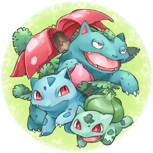 """Pokemon: Bulbasaur/Ivysaur/Venasaur. Type: Grass/Poison. Used in: Yellow (evolves into Ivysaur lv.16 and Venasaur, lv. 32). How obtained: Lady in Cerulean City. Gender: N/A. Ability: N/A. Nickname: Hedera (Latin, meaning """"Ivy""""). Starting level: 10. End game: Level 53, move-set = Leech Seed, Razor Leaf, Solarbeam, Cut."""