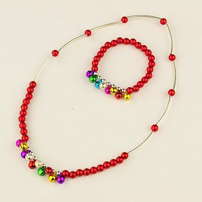 PandaHall Jewelry—Fashion Imitation Acrylic Pearl Jewelry Sets for Kids