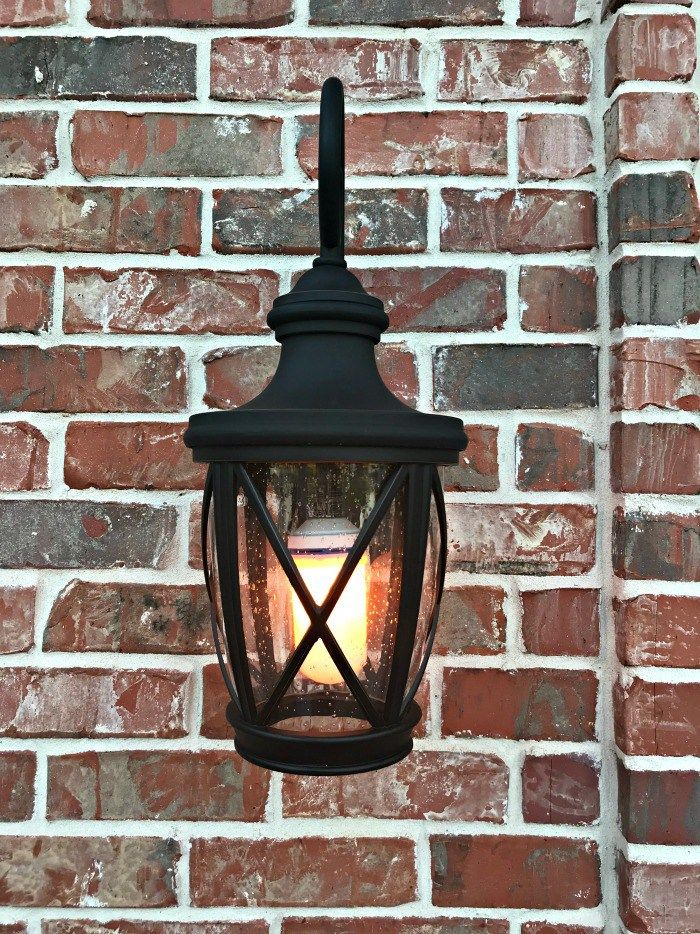 Led Flame Effect Fire Bulb Front Porch Makeover This Is A Great Way To Increase Your Curb Eal Curbealideas Porchideas Abbottsathome Lighting