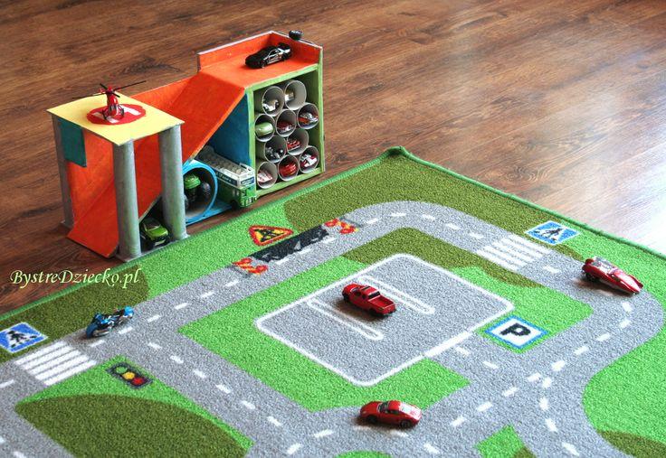 DIY garaż z kartonu i rolek po papierze toaletowym - ekologiczne zabawki z…