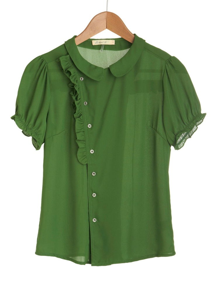 Fern Your Keep Top. Neat front and back detailing.