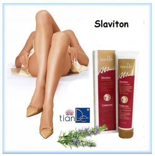 """TianDe Slaviton Foot Phytogel,125ml. The Phytogel """" Slaviton """" series """" Altai """" Medicine is a very effective solution for treating and preventing the progression of varicose veins. The gel composition enters a string of naturaln ingredients of each ingredient itself is a treasure trove of medicinal components. 