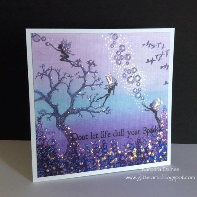 blues and purples October challenge with Lavinia Stamps